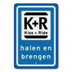 Parkeerbord Kiss+ride